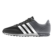 Buy Adidas V Racer Trainers, Black Online at johnlewis.com