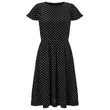 Buy COLLECTION by John Lewis Caterina Silk Spot Dress, Black/White Online at johnlewis.com