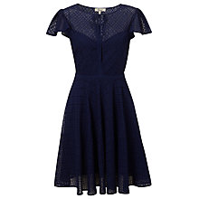 Buy Somerset by Alice Temperley Broderie Dress, Navy Online at johnlewis.com