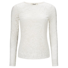 Buy Somerset by Alice Temperley Baroque Lace Top, Cream Online at johnlewis.com