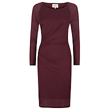 Buy Havren Midi Side Pleat Dress, Dark Aubergine Online at johnlewis.com