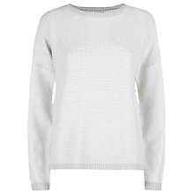 Buy Havren Textured Jumper, Silver Online at johnlewis.com