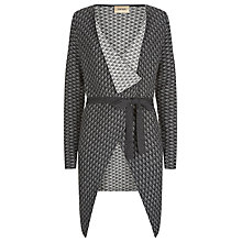 Buy Havren Jacquard Waterfall Cardigan, Marcasite Online at johnlewis.com