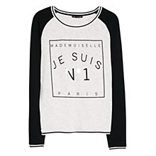 Buy Mango Cotton Message Sweatshirt Online at johnlewis.com