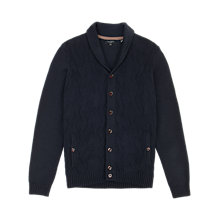 Buy Ted Baker Zigtop Shawl Knit Cardigan, Navy Online at johnlewis.com