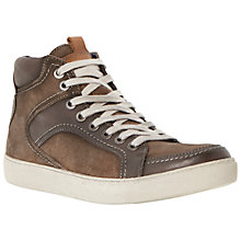 Buy Dune Soka Leather and Suede Shoes, Brown Online at johnlewis.com