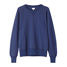 Buy Jigsaw Cotton Sweatshirt, Indigo Online at johnlewis.com