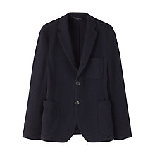 Buy Jigsaw Washed Lambswool Patch Pocket Unstructured Jacket, Navy Online at johnlewis.com