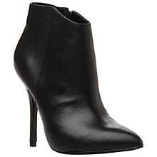 Buy Steve Madden Grrand Leather Ankle Boots, Black Online at johnlewis.com