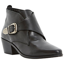 Buy Dune Peaches Ankle Boots, Black Online at johnlewis.com