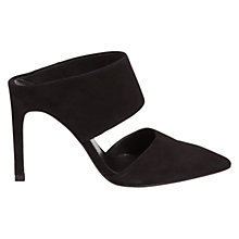 Buy Whistles Tilla Pointed Toe Mule Court Shoes, Black Online at johnlewis.com