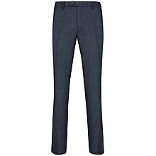 Buy Ted Baker Wool Rich Jontro Trousers, Dark Blue Online at johnlewis.com