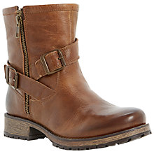 Buy Dune Promiss Leather Calf Boots, Brown Online at johnlewis.com