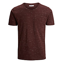 Buy Selected Homme Christof Short Sleeve T-Shirt, Fudge Online at johnlewis.com