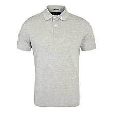 Buy Armani Jeans Plain Polo Shirt, Grey Online at johnlewis.com