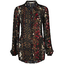 Buy Sandwich Animal Print Tunic Top, Nearly Black Online at johnlewis.com