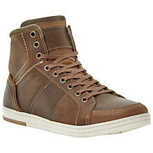 Buy Dune Scotch Hi-Top Leather Shoes Online at johnlewis.com