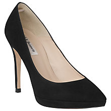 Buy L.K. Bennett Clare High Heeled Court Shoes, Black Suede Online at johnlewis.com