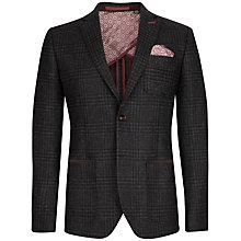 Buy Ted Baker Mazdur Wool Check Blazer, Charcoal Online at johnlewis.com