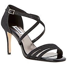 Buy Dune Highlife Sparkly Sandals, Black Online at johnlewis.com
