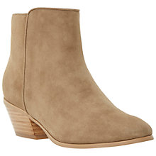 Buy Dune Pankhurst Block Heeled Ankle Boots, Taupe Suede Online at johnlewis.com