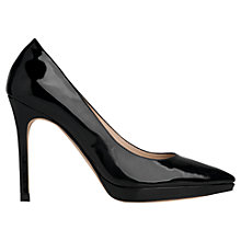 Buy L.K. Bennett Clare High Heeled Court Shoes, Black Patent Online at johnlewis.com