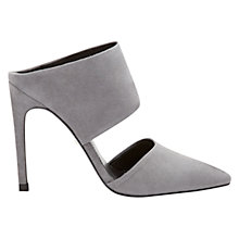 Buy Whistles Tilla Pointed Toe Mule Court Shoes, Grey Online at johnlewis.com