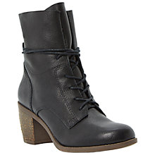 Buy Steve Madden Gretchun Leather Mid Block Heel Calf Boots Online at johnlewis.com