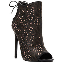 Buy Steve Madden Korsett Leather Cut Out Detail Shoe Boots, Black Online at johnlewis.com