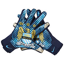 Buy Nike Manchester City FC Stadium Gloves, Navy/Light Blue Online at johnlewis.com
