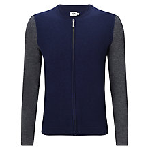 Buy Kin by John Lewis Contrast Block Colour Wool Bomber Jacket, Navy/Grey Online at johnlewis.com