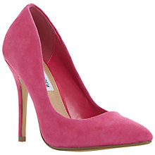 Buy Steve Madden Galleryy Suede Court Shoes, Pink Online at johnlewis.com