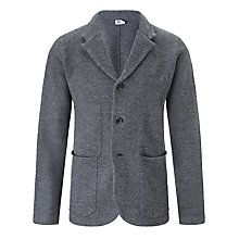 Buy Kin by John Lewis Boiled Merino Wool Blazer, Grey Melange Online at johnlewis.com