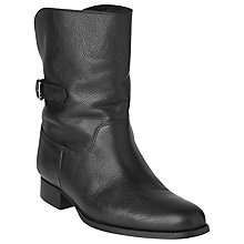 Buy L.K. Bennett Neve Leather Shearling Ankle Boots, Black Online at johnlewis.com