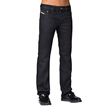 Buy Diesel Larkee Relaxed 607A Straight Jeans, Dark Blue Online at johnlewis.com