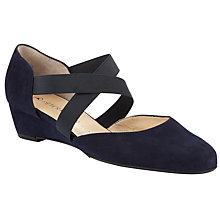 Buy Peter Kaiser Jaila Cross Strap Wedge Pumps, Navy Suede Online at johnlewis.com