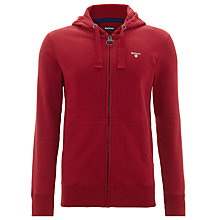 Buy Barbour Bradley Cotton Hoodie, Red Online at johnlewis.com