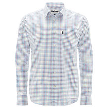 Buy Barbour Patrick Check Shirt, White/Plum Online at johnlewis.com