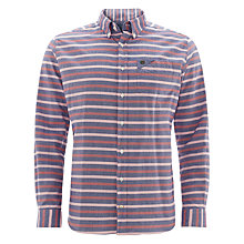 Buy Barbour Larry Laundered Stripe Shirt, Blue/Pink Online at johnlewis.com