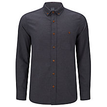 Buy JOHN LEWIS & Co. Melange Flannel Shirt, Indigo Online at johnlewis.com