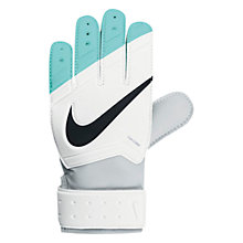 Buy Nike Junior Grip Goalkeeper Football Gloves, White/Hyper Turquoise Online at johnlewis.com