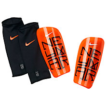Buy Nike Adult Mercurial Lite Neymar Shin Pads, Atomic Orange/Black Online at johnlewis.com