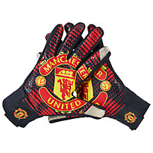 Buy Nike Manchester United Stadium Gloves, Black/Red Online at johnlewis.com
