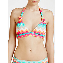 Buy Seafolly Soundwave Samba Bikini Bra, Peppermint Online at johnlewis.com