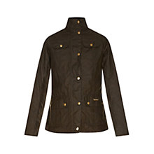 Buy Barbour Emma Waxed Jacket, Green Online at johnlewis.com