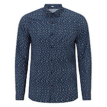 Buy Kin by John Lewis Linear Geometric Cross Printed Shirt Online at johnlewis.com