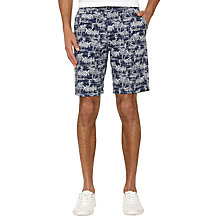 Buy Original Penguin Tiki Print Shorts, Dress Blue Online at johnlewis.com
