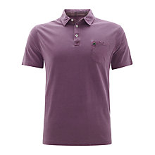 Buy Barbour Laundered Polo Shirt, Plum Online at johnlewis.com