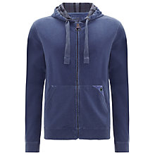 Buy Barbour Don Laundered Hoodie, Blue Online at johnlewis.com