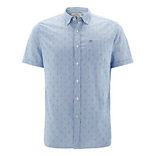 Buy Barbour Greatcoat Stormer Short Sleeve Anchor Print Shirt, Blue Online at johnlewis.com